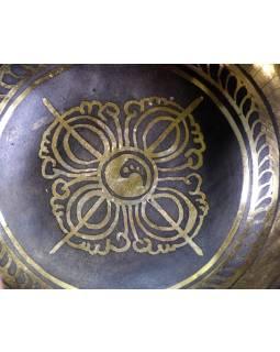"""Tibetská mísa, """"Gulpa"""", gravírovaná s designem, průměr 17cm"""