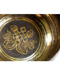"""Tibetská mísa, """"Gulpa"""", gravírovaná s designem, průměr 18cm"""
