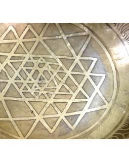 """Tibetská mísa, """"Gulpa"""", gravírovaná s designem, průměr 21cm"""