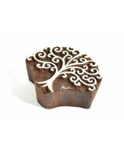 Strom života - razítko vyřezávané ze dřeva, ruční práce, 7x6cm