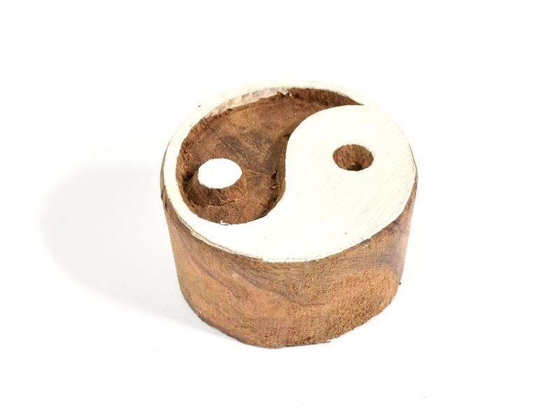 Yin/Yang - razítko vyřezávané ze dřeva, ruční práce, 7x6cm