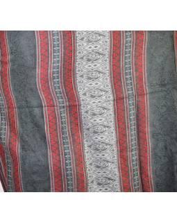 Velký zimní šál se vzorem, šedá, 205x95cm
