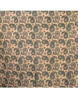 Velký zimní šál se vzorem paisley, lahvově zelená, 205x95cm