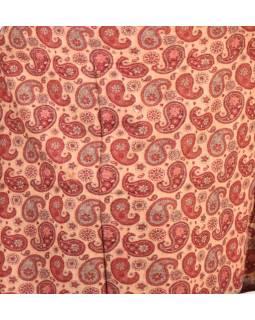 Velký zimní šál se vzorem paisley, vínová, 205x95cm