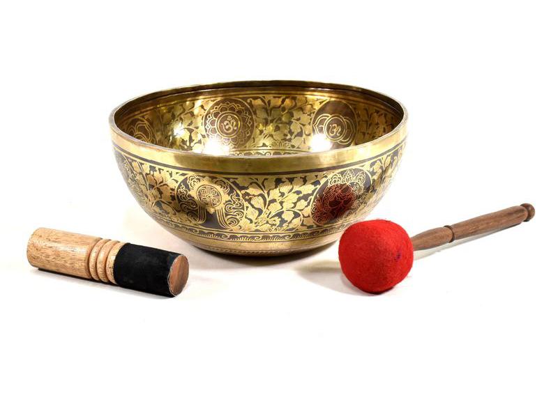 """Tibetská mísa, """"Jam"""", gravírovaný ornament 7 čaker, průměr 36cm"""