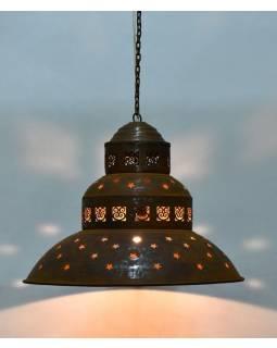 Kovová lampa v orientálním stylu, rez, 45x45x38cm