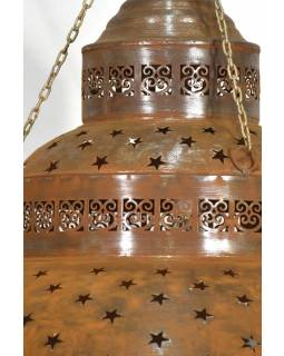 Kovová lampa v orientálním stylu, rez, 61x61x42cm