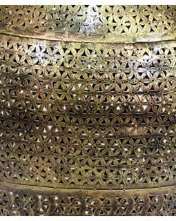 Světelná váza, kovová, ručně tepaná, prům.50cm, výška 77cm