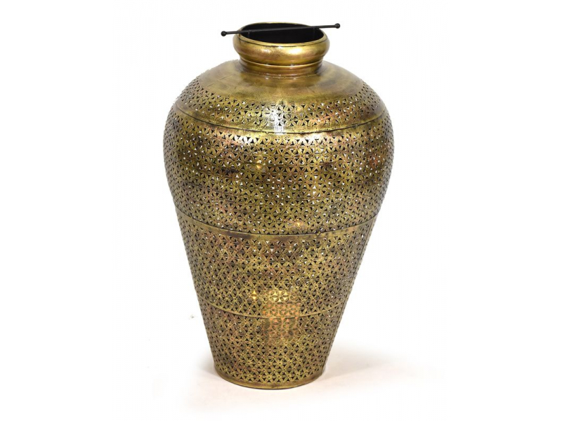 Světelná váza, kovová ručně tepaná, prům.42, výška 60cm