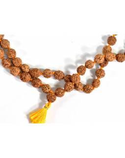 Mala Rudraksha, 108 korálků, průměr 9-10 mm, délka 60cm