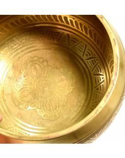"Tibetská mísa, ""Gulpa"", gravírovaný ornament, průměr 12cm"