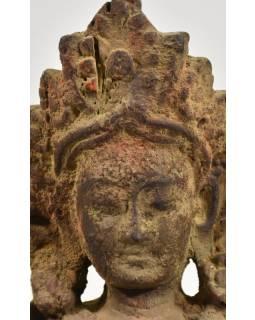 Zelená Tara, antik dřevěná socha, ruční práce, 30cm