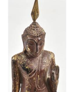 Narozeninový Buddha teakový 8'' -  hnědá patina