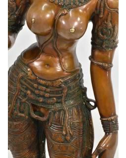Mosazná socha bohyně Parvati, 30x30x115cm