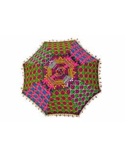 Pestrobarevný slunečník z Rajastanu, průměr 120cm