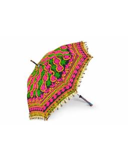 Pestrobarevný slunečník z Rajastanu, průměr 120 cm