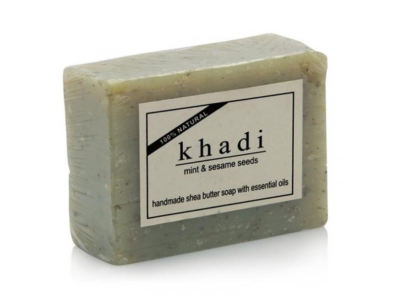 Ručně vyráběné mýdlo s esenciálními oleji, Mint and Sesame, 100g