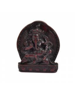 Ganesh, mini, jedoucí na kryse, hnědo červený, 5x5cm