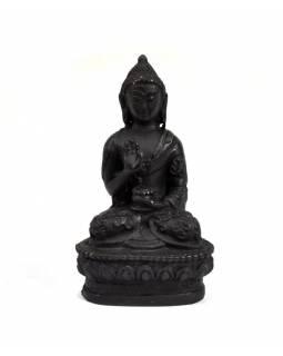 Buddha Amóghasiddhi, sedící, černý, pryskyřice, 9cm