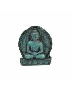 "Buddha Amithába, mini, ""stone"", tyrkysový, pryskyřice, 4cm"