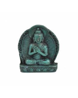 """Buddha Vairóčana, mini, """"stone"""", tyrkysový, pryskyřice, 4cm"""