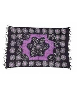 Sárong, vosková batika, viskóza, 100x190cm