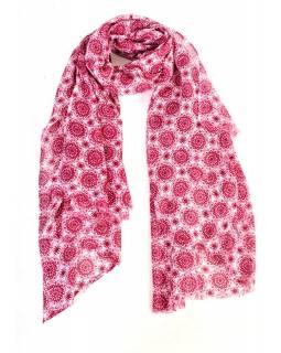Šedorůžový šátek se vzorem floral, 175x115cm