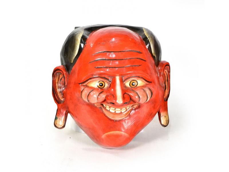 Dřevěná maska, joker, ručně malovaná, 22x22cm