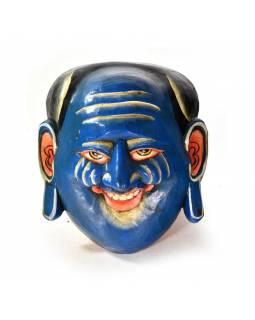 Dřevěná maska, joker, ručně malovaná, 20x18cm