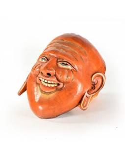 Dřevěná maska, joker, ručně malovaná, 19x21cm