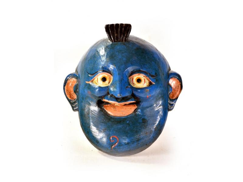 Dřevěná maska, joker, ručně malovaná, 15x15cm