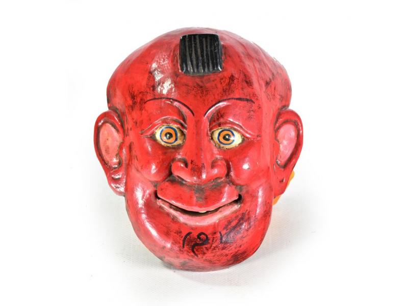 Dřevěná maska, joker, ručně malovaná, 16x19cm