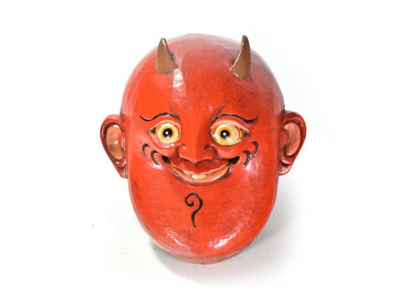 Dřevěná maska, joker, ručně malovaná, 17x19cm