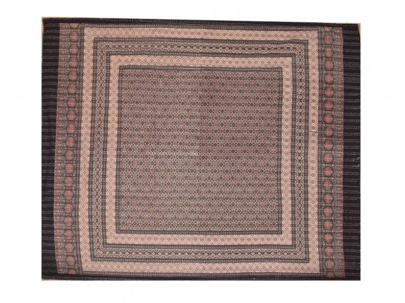 Patchworkový přehoz na postel, prošívaný, blockprint, 220x270cm