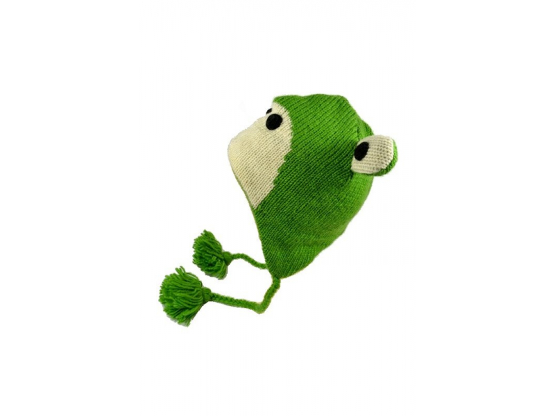 Čepice s ušima, žabák, vlna, podšívka