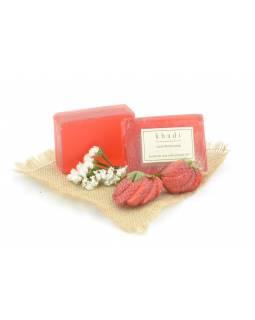 Ručně vyráběné mýdlo s esenciálními oleji, Strawberry, 125g
