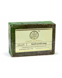 Ručně vyráběné mýdlo s esenciálními oleji, Basil Scrub, 125g