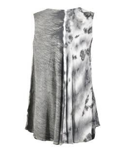 Letní halena/mini šaty bez rukávu, výšivka, bílošedá