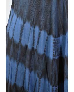 Krátké modré šaty bez rukávu, výšivka