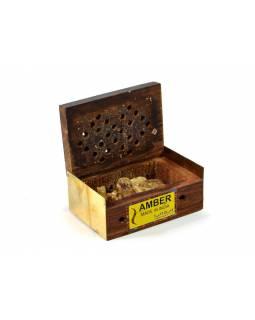 Parfém krystal v dřevěné krabičce, Amber