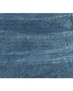 Krátká sukně zapínaná na zip, modrá, stonewashed design