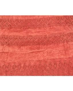 Krátká sukně  zapínaná na zip, červená, stonewashed design