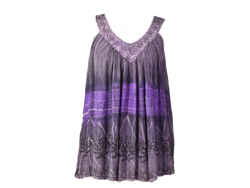 Letní halena bez rukávu, batika, fialová