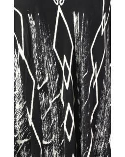 Letní halena s rukávem, výšivka, černá