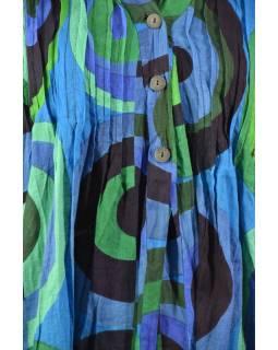 Letní halena s potiskem a knoflíčky, round design, modrá