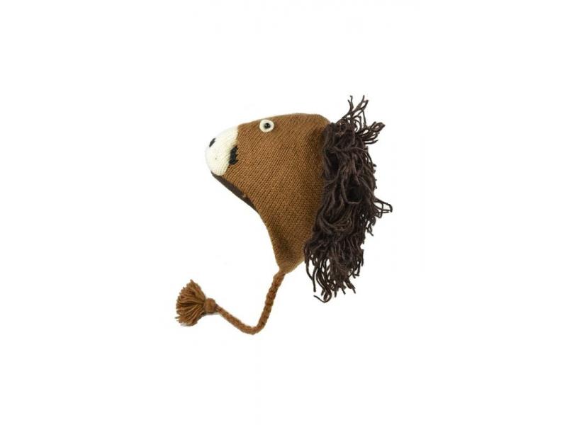 Čepice s ušima z vlny, pes, podšívka