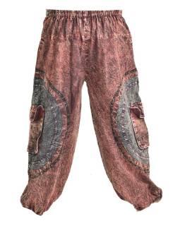 Unisex balonové kalhoty  s kapsami, stonewashed design