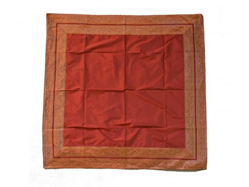 Ubrus na stůl, červený, brokát, 150x150cm