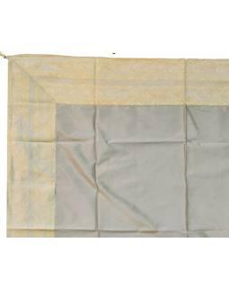 Ubrus na stůl, stříbrný, brokát, 150x150cm