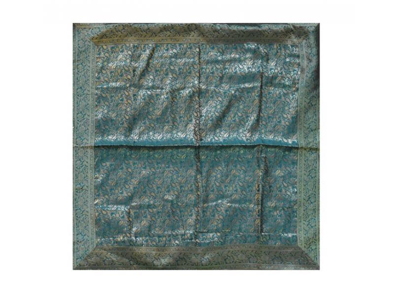 Ubrus na stůl, zelený, brokát, 100x100cm